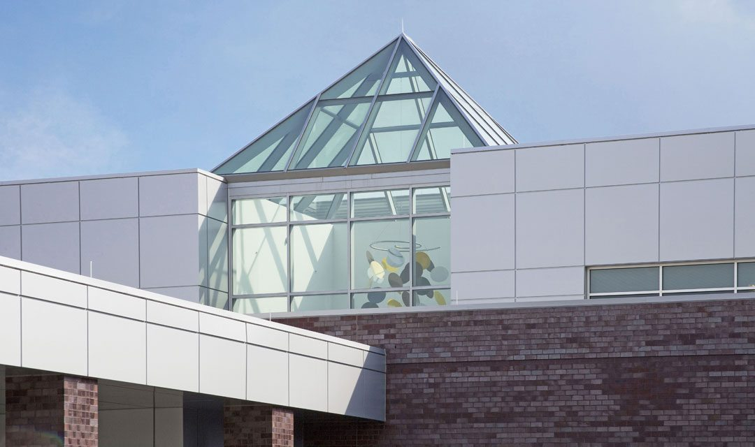 Linetec finishes Penn Family Medicine Center's pyramid skylight manufactured by Super Sky