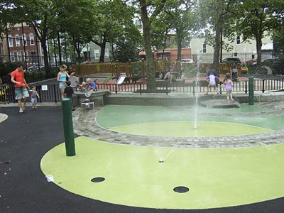 Slope Park/NYC Parks Dept. with LITHOCHROME® Color Hardener®. Courtesy of L. M. Scofield.