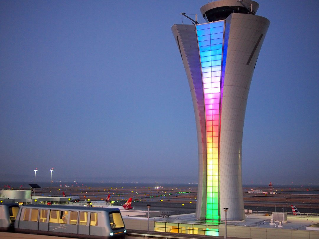 Air Traffic Control Tower San Francisco International Airport. Photographer: Peter Biaggi