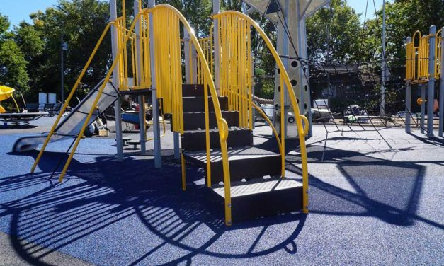 Accella donates playground surface materials to Trojan Park Playground