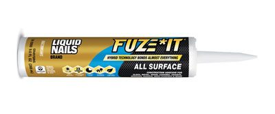 LIQUID NAILS brand FUZE*IT adhesive by PPG. Hybrid-technology innovation instantly bonds nearly all materials