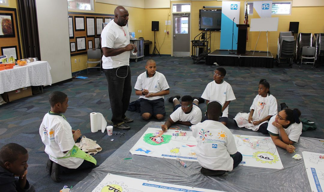 Ppg Innovative Classroom Grant Application ~ Ppg completes colorful communities project at academy prep