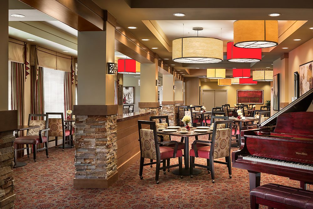 incorporating restaurant design into senior living spaces | prism