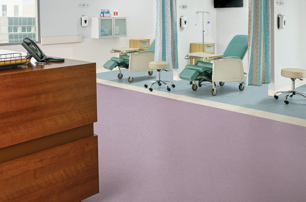 Homogeneous sheet flooring designed with health in mind