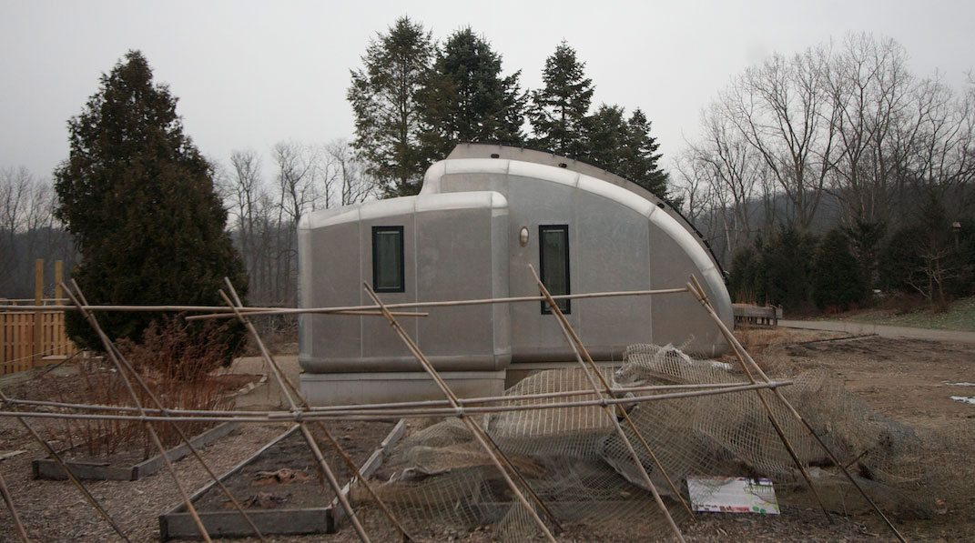 Tiny solar house transitions from concept to permanent for Building a permanent tiny house
