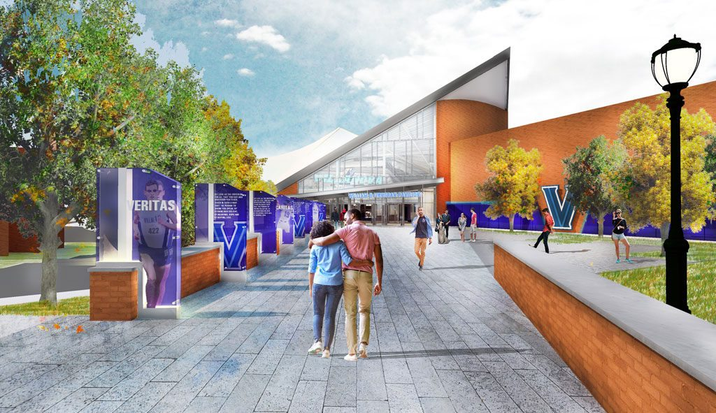 New entry at The Pavilion, Villanova University. Credit: EwingCole