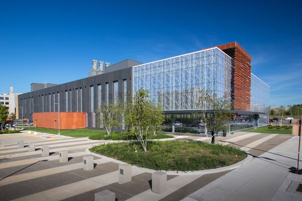 The LEED silver building is an important project for Wayne State University, as it enables the university to participate in the National Institutes of Health funding and initiatives. Wayne State University's Integrative Biosciences Center (IBio). Photo: © John Lacy Photography