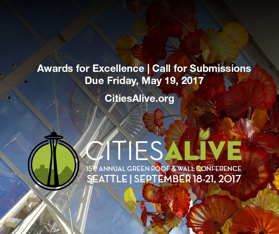 CitiesAlive®: 15th Annual Green Roof & Wall Conference - Awards of Excellence - Call for Submissions