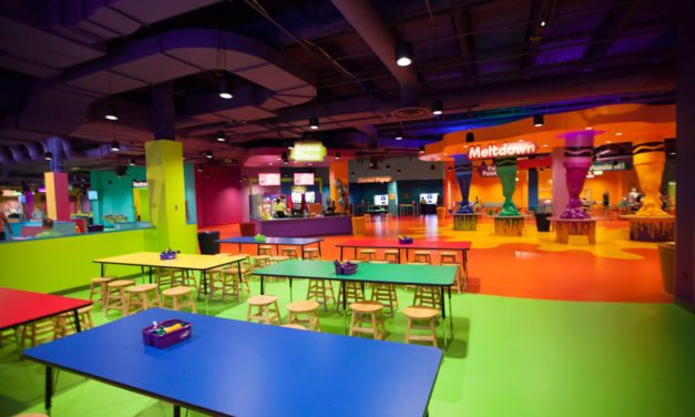 Crayola Experience at the Mall of America adorned with colorful floor