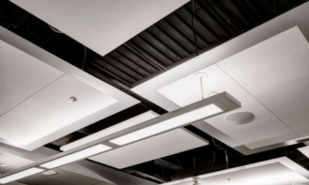 Rockfon Infinity Perimeter Trim helps designers create ceiling clouds, islands, light coves, projections, dramatic transitions