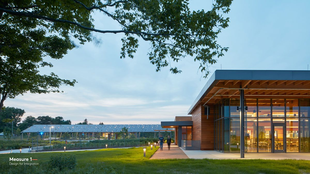 Chatham University Eden Hall Campus has been designed and built as a living lab, featuring full cycle water reuse systems, net-positive energy production, and zero waste operations in an immersive living and learning environment. Richland Township, Pa. Photo: Bruce Damonte