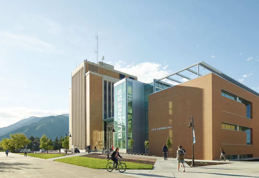 Jon M. Huntsman Hall At Utah State University, Logan, Utah. Photo: