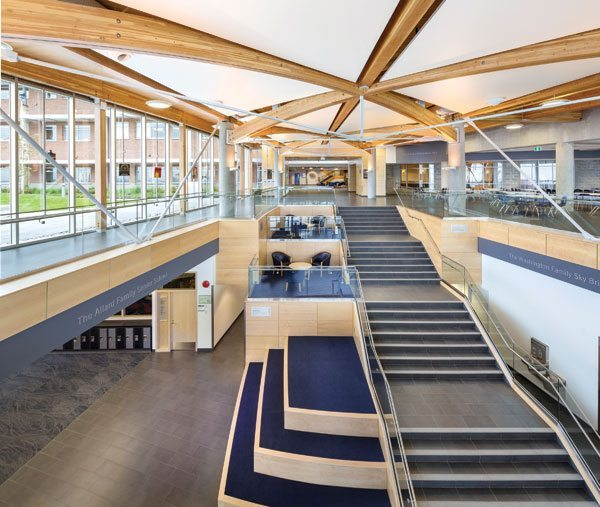 2017 awards event in B.C. celebrates the best in wood design and building: Interior Beauty Design: Rod Windjack, HDR | CEI Architecture Associates Inc., Vancouver – Mulgrave Senior School Addition, West Vancouver. Image: © Ed White photographics. Courtesy of Wood WORKS! BC