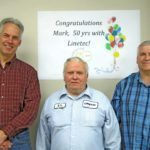 Linetec honors Mark Hall for 50 years of service