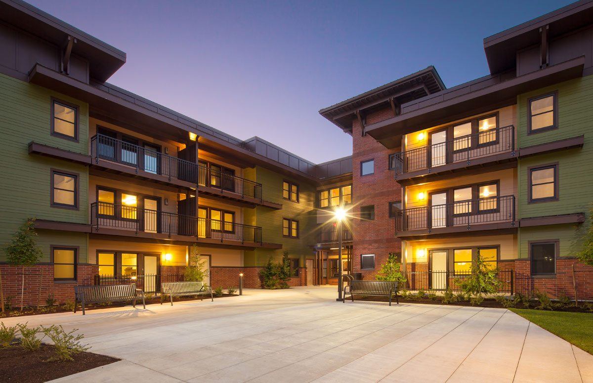 Orchards at Orenco, Phase I. Image: Casey Braunger. Courtesy of Ankrom Moisan Architects