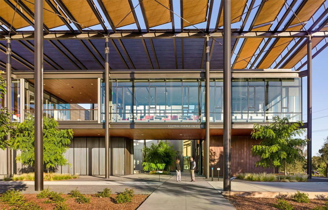 Building materials were selected for durability, performance, sustainability, and contextual references. Stanford University Central Energy Facility, Stanford, Calif. Photo: Robert Canfield Photography