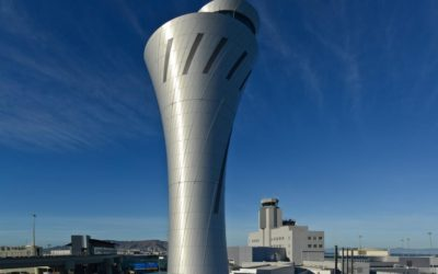 Airport tower featuring DURANAR SUNSTORM coatings wins metal design award
