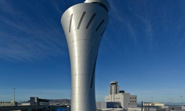 Airport tower featuring DURANAR SUNSTORM coatings wins metal design award
