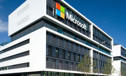 The new Microsoft Germany HQ façade features prominent white facade made of Corian®