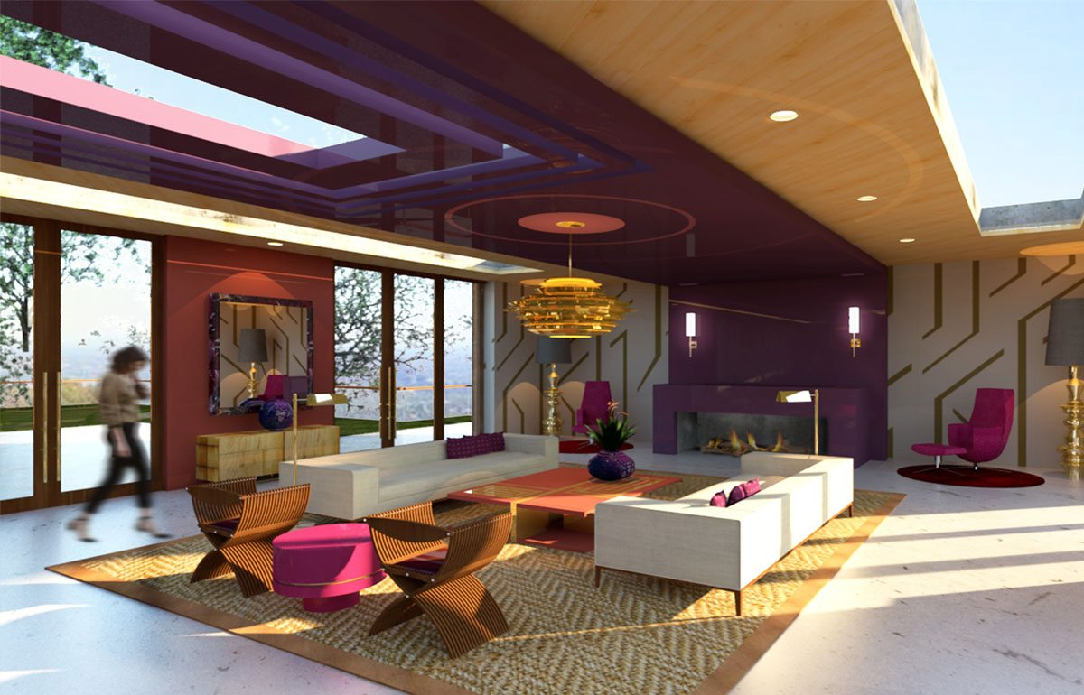 winners announced for sherwin williams seventh annual student sherwin williams student design challenge first place residential category winner modern asian inspired