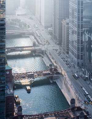 Chicago Riverwalk. Photo credit: @ Iwan Baan