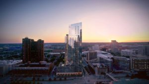 414 Light Street to stand as the tallest residential tower in Baltimore. Credit: Questar Properties