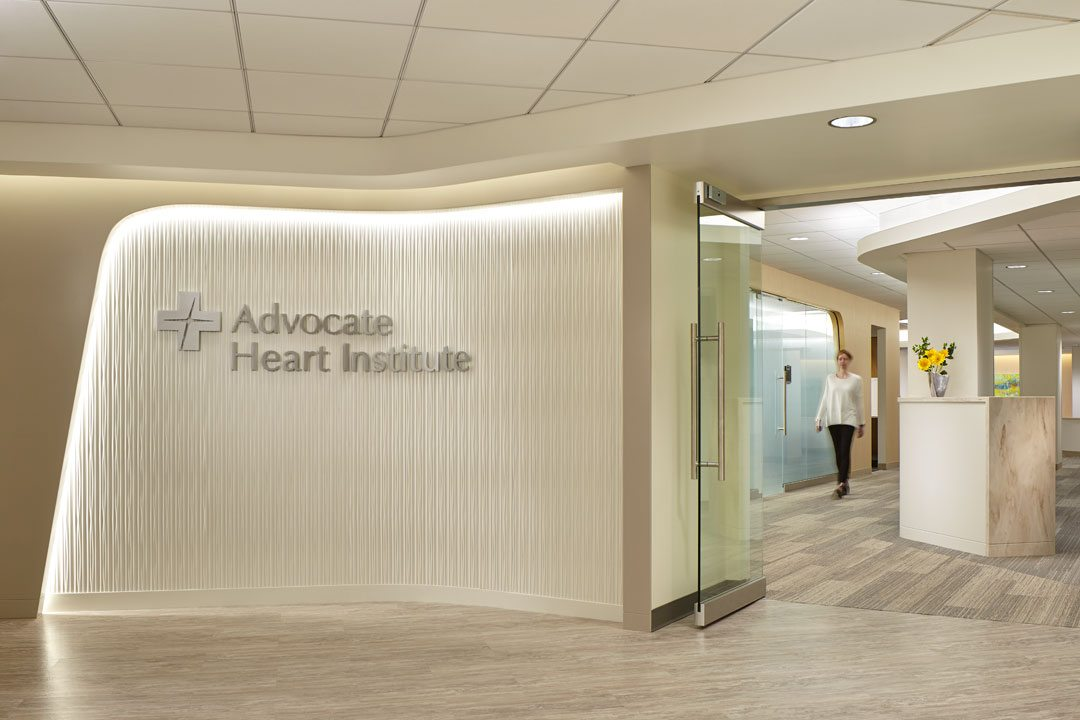 Advocate Lutheran General Hospital Cardiac Catheterization Suite; Park Ridge, Illinois. Philips Design and Anderson Mikos Architects. Photo: Craig Dugan Photography