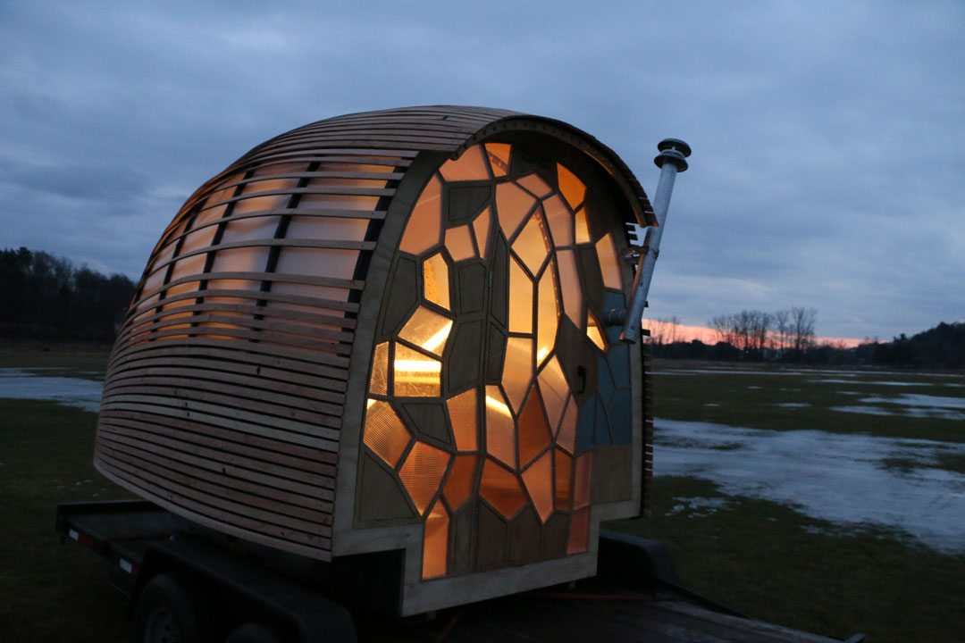 OTIS is a Tiny House that was built by GMC students in a Renewable Energy and Ecology Design class. They called this mobile house OTIS for Optimal Traveling Independent Space.