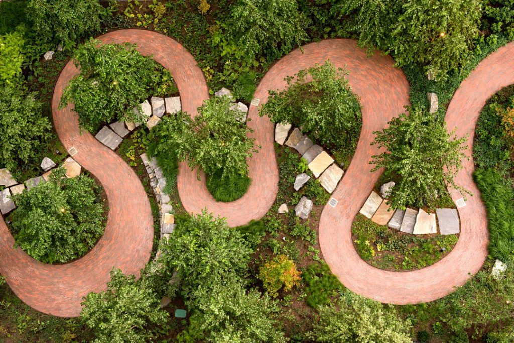 Brick in Architecture Award (Paving & Landscaping) Best in Class winner: VIA 57 West – New York, N.Y. Starr Whitehouse Landscape Architects and Planners. Photographer: Alex Fradkin