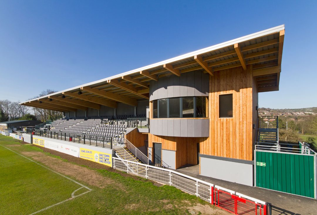 Family Stand, Dover Athletic Football Club, Lee Evans Partnership LLP. Photo: © Robert Greshoff