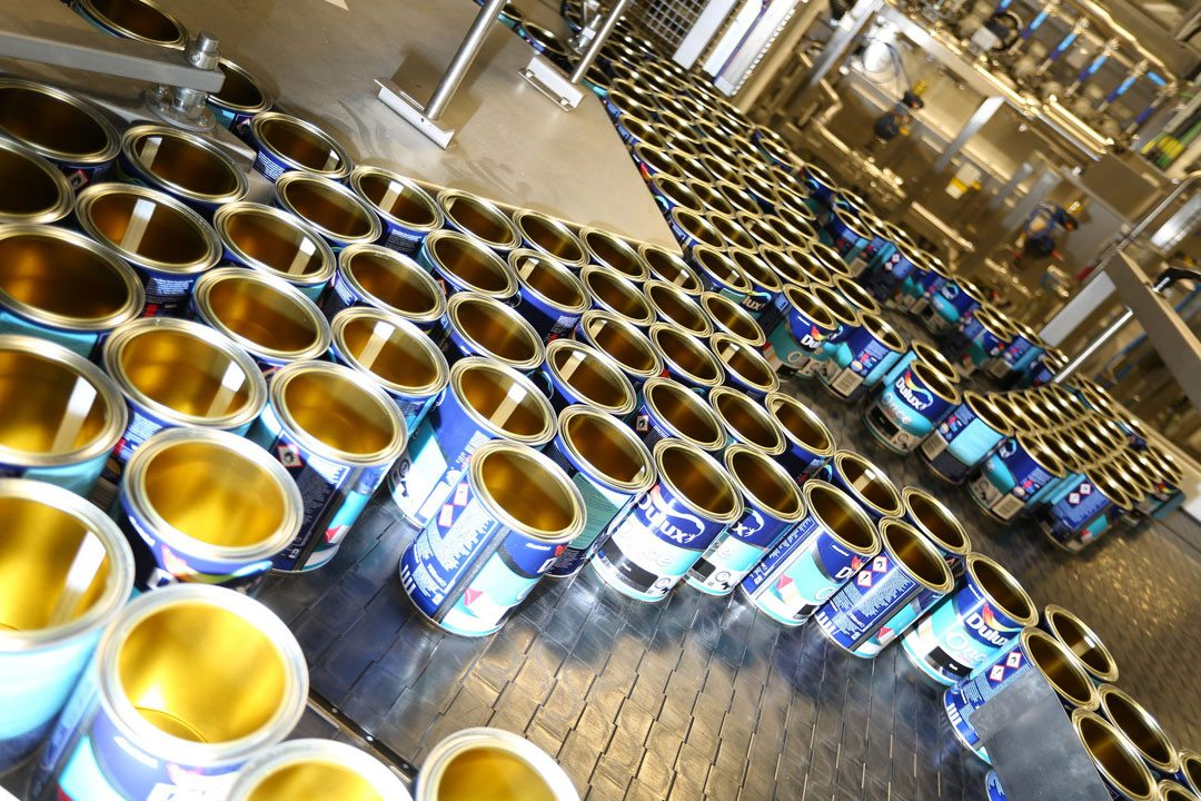The Ashington plant can produce up to 33,000 different colours across a range of AkzoNobel brands, including Dulux, Dulux Trade, Cuprinol, Polycell, Hammerite and Armstead. Photo courtesy of AkzoNobel