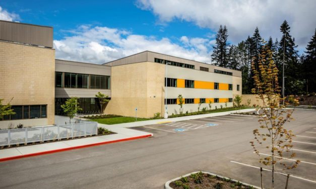 Steelscape pre-painted metal with DURANAR GR graffiti-resistant coating by PPG provides industry-first protection for Washington school building