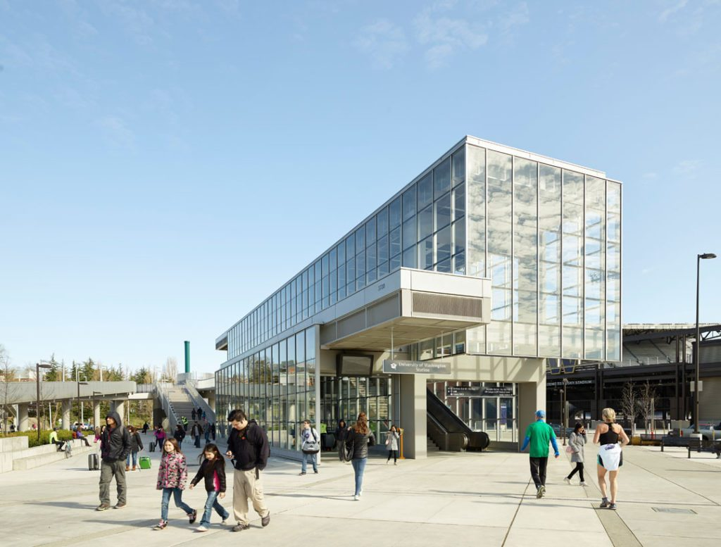 Sound Transit's University of Washington Station, Seattle, designed by LMN Architects. Photo credit: Kevin Scott