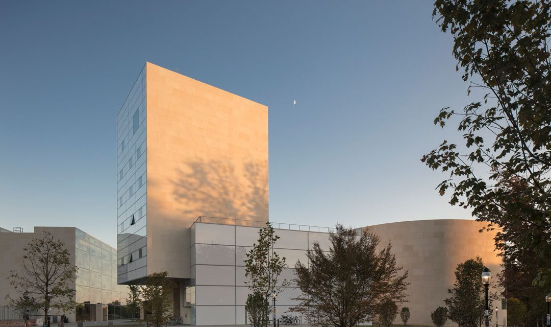 The new Lewis Arts complex designed by Steven Holl Architects in partnership with BNIM Architects