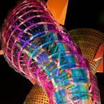 """Goldray's award-winning """"fish icon sculpture"""" fabricated with Vitro Architectural Glass"""