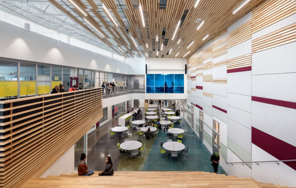 Cuningham Group Architecture and MOA Architecture have designed the new Pathways Innovation Center and Roosevelt High School in Casper, Wyoming. Photos by Astula Inc.