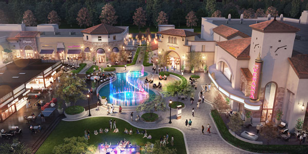 OTL's vibrant water feature to serve as central showpiece for new Silicon Valley retail development.