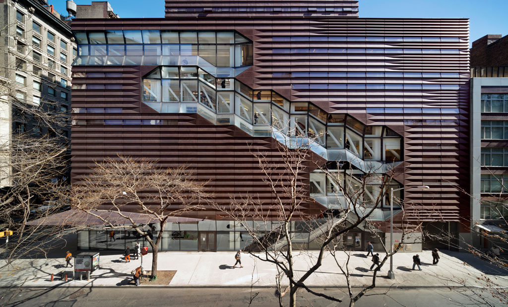 Exterior of the University Center- The New School. Photo: © James Ewing je@jamesewingphotography.com tel. 646-339-2654