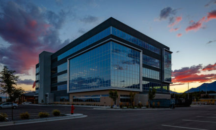 Utah's Sandy Commerce offices feature mountain views framed by Tubelite's systems