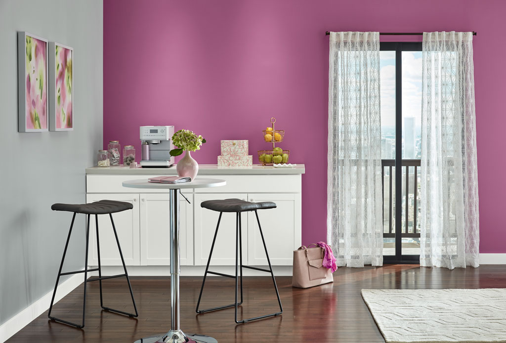 """A power pink that won't be denied."" - Sue Kim, Valspar Sr. Color Designer"
