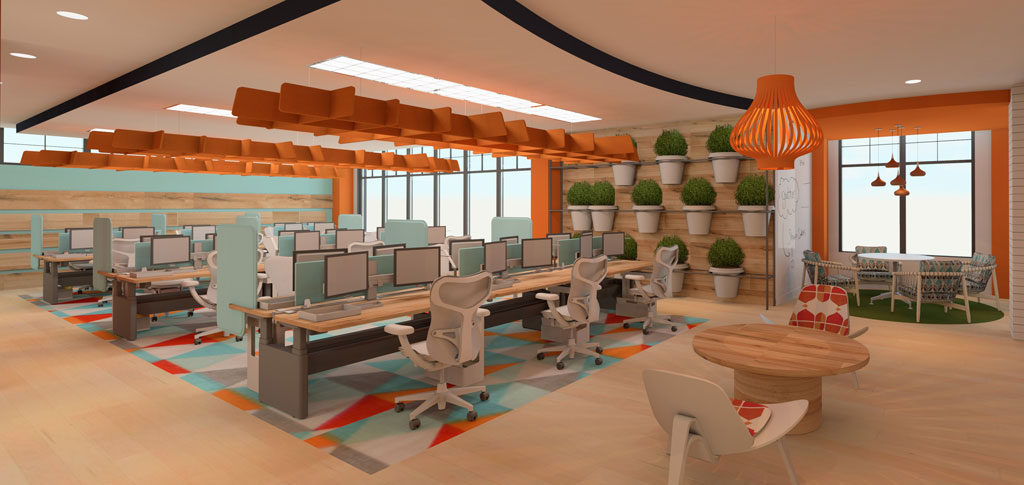 sherwin williams student design challenge first place commercial category winner open office by courtney - Interior Design Competitions