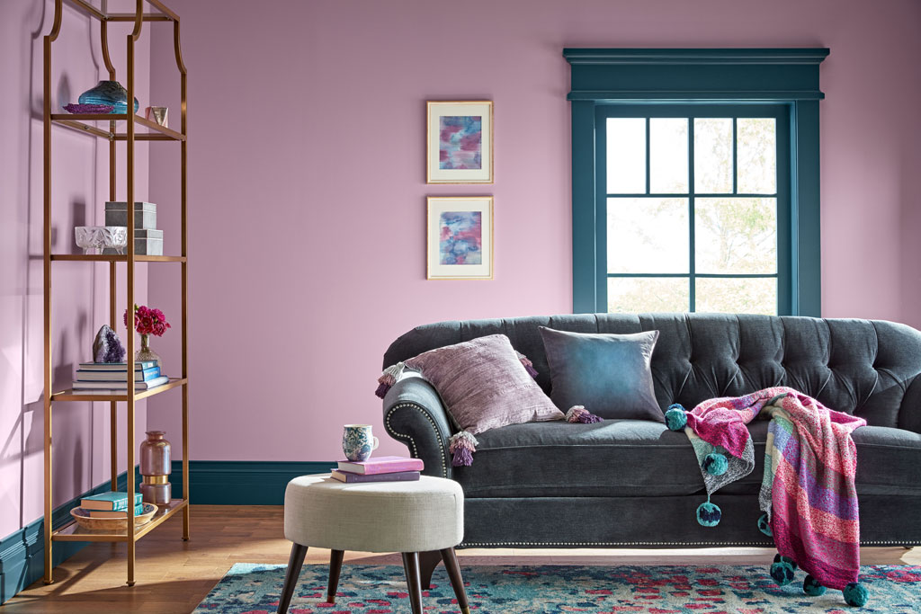 """This dusted-gray lilac brings a calm, quiet, almost-spiritual strength to light colors … and softens moodier darks."" - Sue Kim, Valspar Sr. Color Designer"