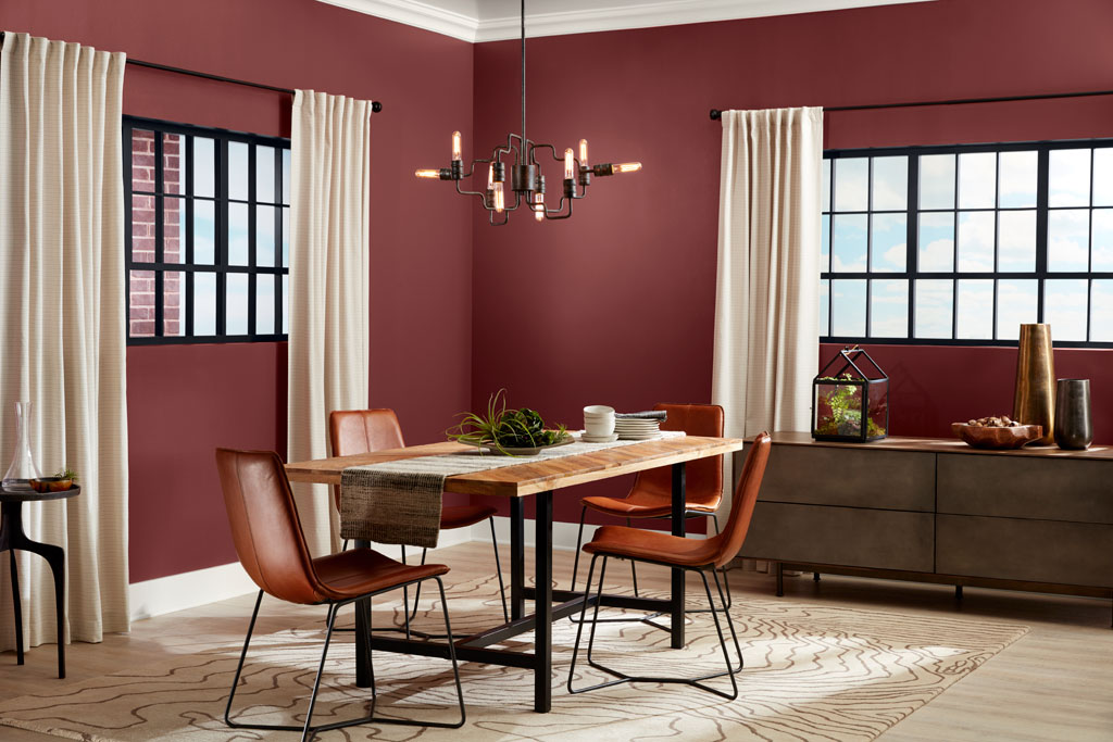 """Deep and sensuous, this red is mature enough to hold its drama to a simmer."" - Sue Kim, Valspar Sr. Color Designer"