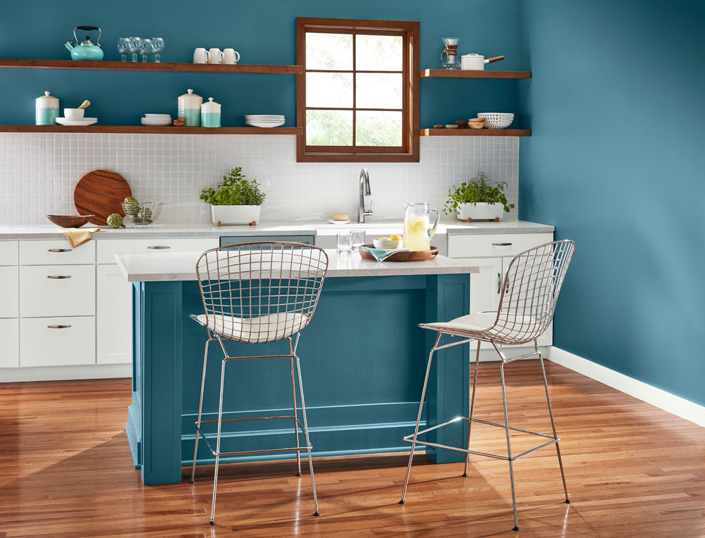 """Nostalgic, versatile blue-green is both warm and cool, making it an easy companion to a range of other colors."" - Sue Kim, Valspar Sr. Color Designer"