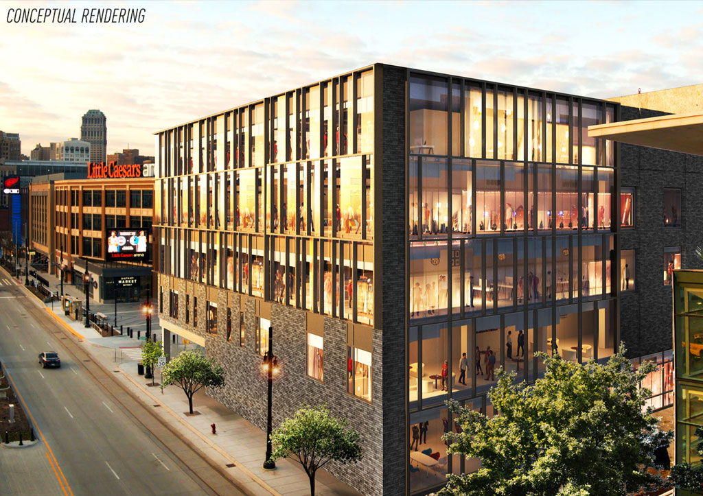 Conceptual Rendering: 2715 Woodward Ave
