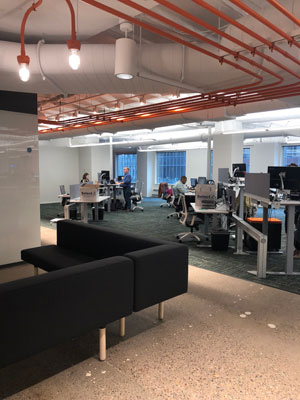 Field Nation's new headquarters, designed by Studio BV, located in the recently renovated Baker Building in Minneapolis.