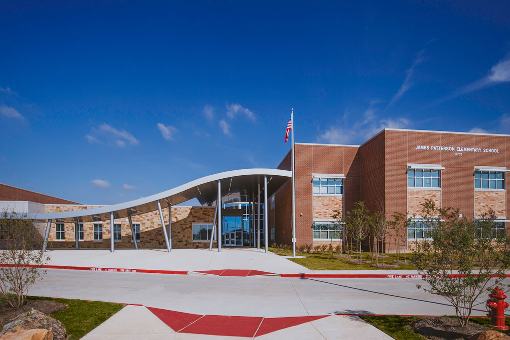 James Patterson Elementary School - Richmond, Texas (Architect: Huckabee). The building was designed to achieve Ultra-Low-Energy Building and it utilizes extensive sustainable, durable and environmentally sound materials and includes natural daylighting, and good indoor air quality.