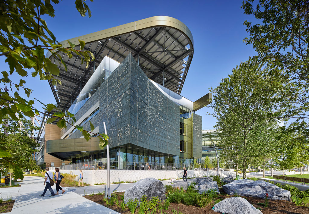 The Emma and Georgina Bloomberg Center at Cornell Tech, Roosevelt Island, New York. Photo credit: Matthew Carbone
