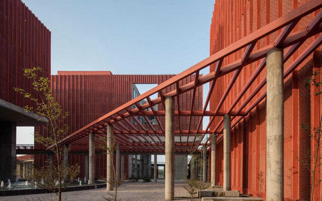 McCullough Mulvin Architects' striking student accommodation for Thapar University in India – shortlisted for World Architecture Festival award