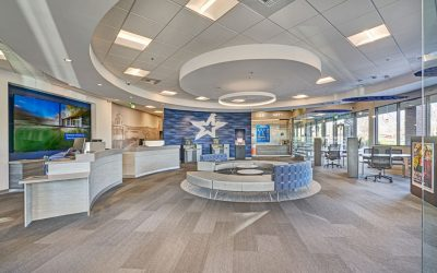 California credit union transforms interior into modern, comfortable, open concept design with Rockfon ceiling system